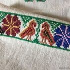 Vintage Embroidered Cloth 100x56cm
